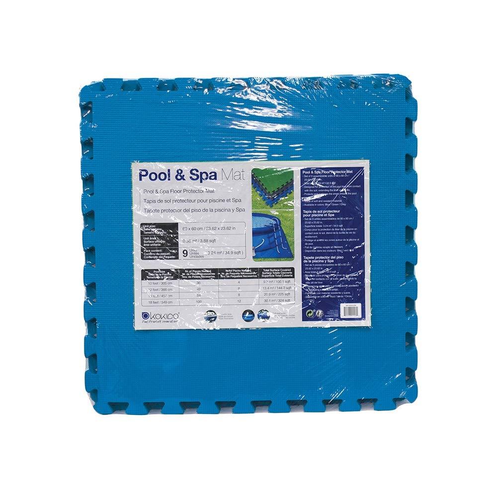 Dalle De Protection Piscine kokido 9 dalles : avis et test d'un tapis de sol piscine pas